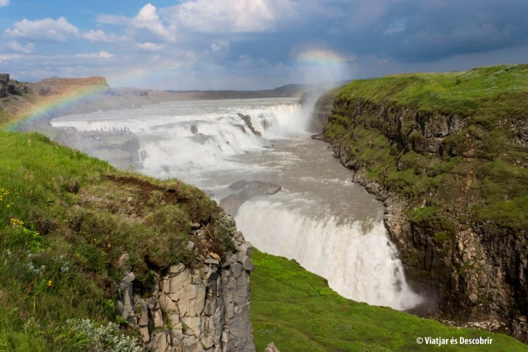 Islandia, cascada Gullfoss