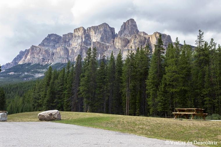 La famosa Castle Mountain