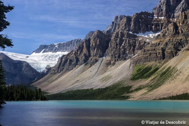 Des del Crowfoot Glacier Viewpoint es veu un paisatge impressionant.