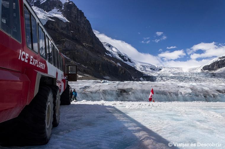 Amb aquestes rodes, l'Ice Explorer pot anar pel gel sense problemes.