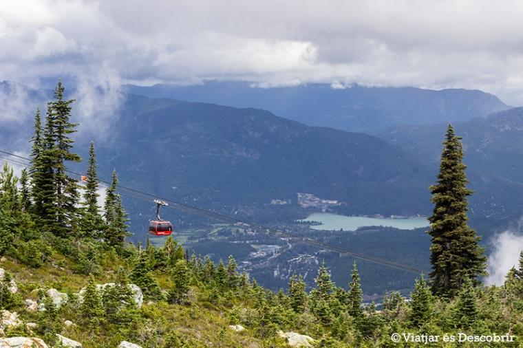 El Peak to Peak connecta les dues muntanyes més populars de la zona.