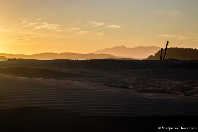Passejar per la platja, mentre el sol s'amaga, és un final perfecte pel dia.