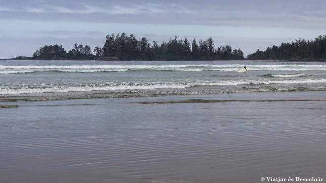 Aquesta platja és un paradís pels surfistes.