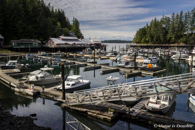 Telegraph Cove és un poble amb molt encant.