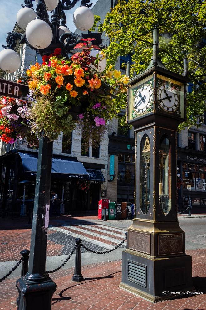 El rellotge de vapor és un dels símbols de la part antiga de Canadà.