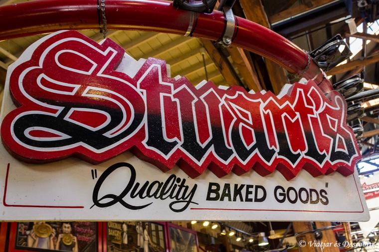 A l'Stuart's Bakery, dins del mercat públic, hi ha uns dolços deliciosos.