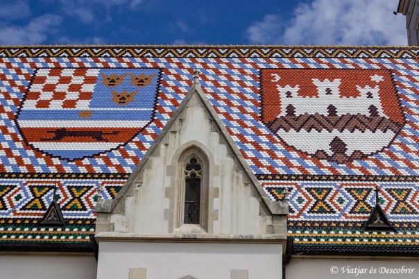 Zagreb. Església de Sant Marcos