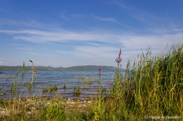 Vransko jezero. Carretera de l'Adriàtic. Jadranska magistrala