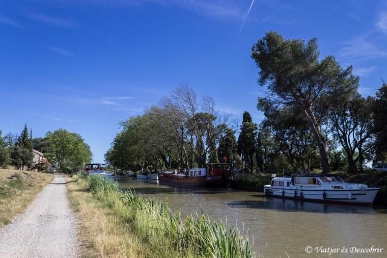 França bicicleta. Canal du Midi