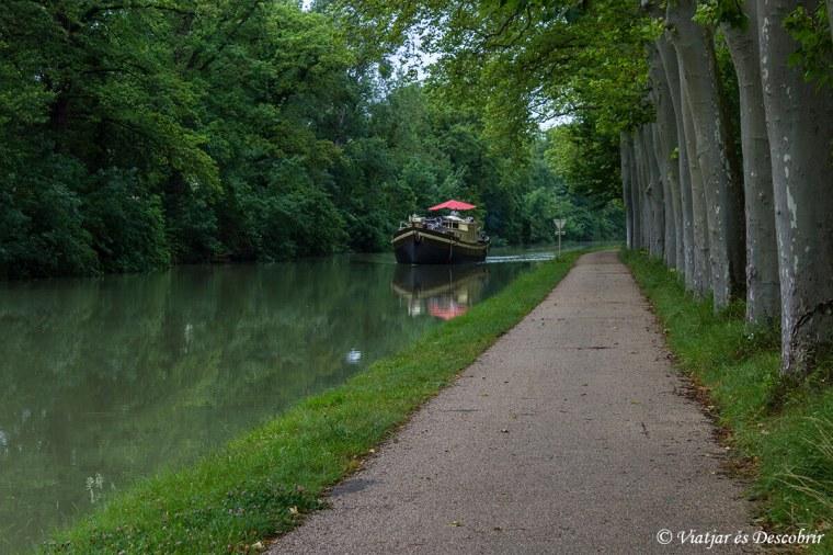 França bicicleta. Canal du Midi.