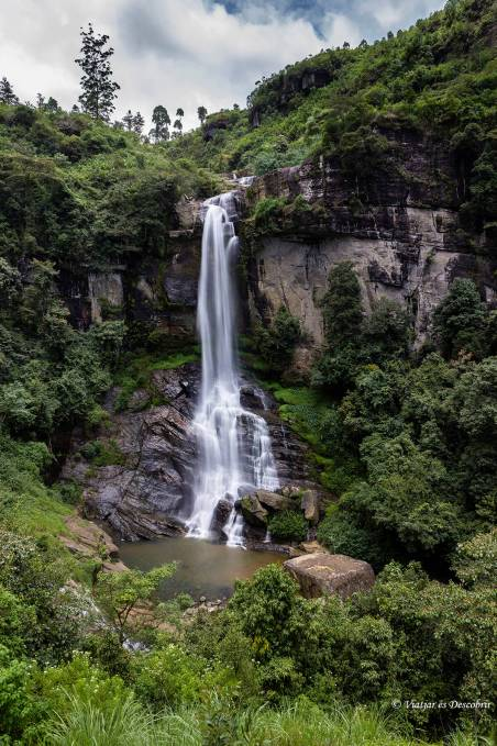cascada a Nuwara Eliya
