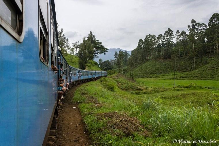 tren per les terres altes de sri lanka