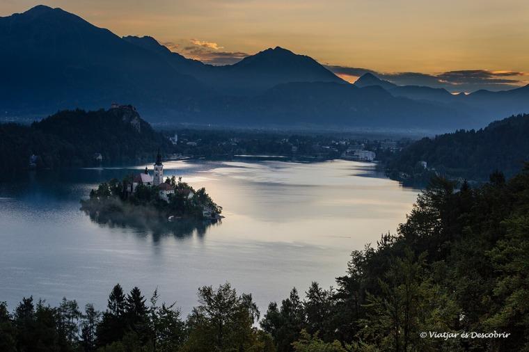 vista panoràmica del llac bled