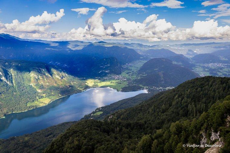 el llac bohinj vist des del vogel