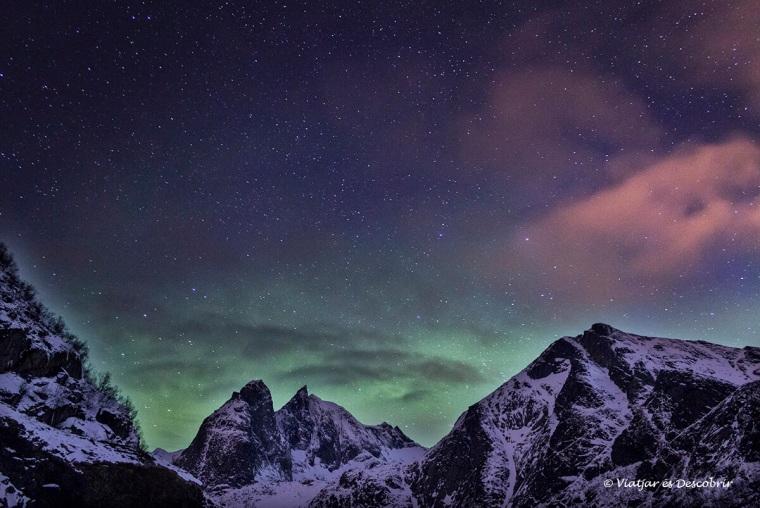 Vam veure l'aurora boreal a Noruega durant el viatge.