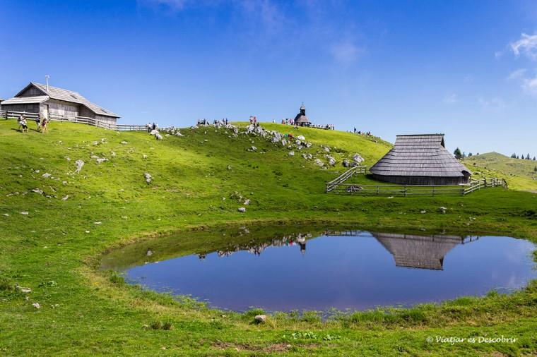 el paisatge de velika planina és preciós, un dels famosos d'eslovènia.