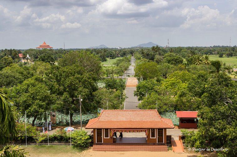Vista panoràmica de Anuradhapura a Sri Lanka