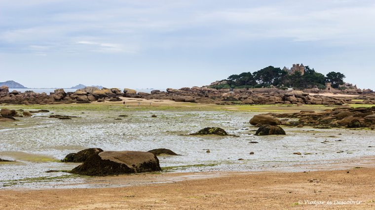 Costa de Granit Rosa amb bicicleta a la bretanya francesa