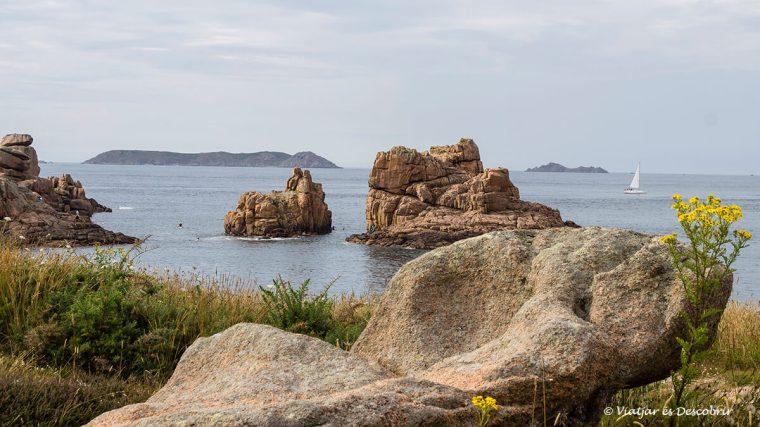 veler i la costa de granit rosa